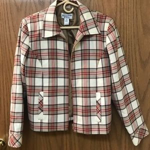Vintage plaid wool Pendleton zip up jacket size 10
